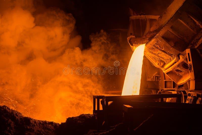 Planta siderúrgica imagen de archivo libre de regalías