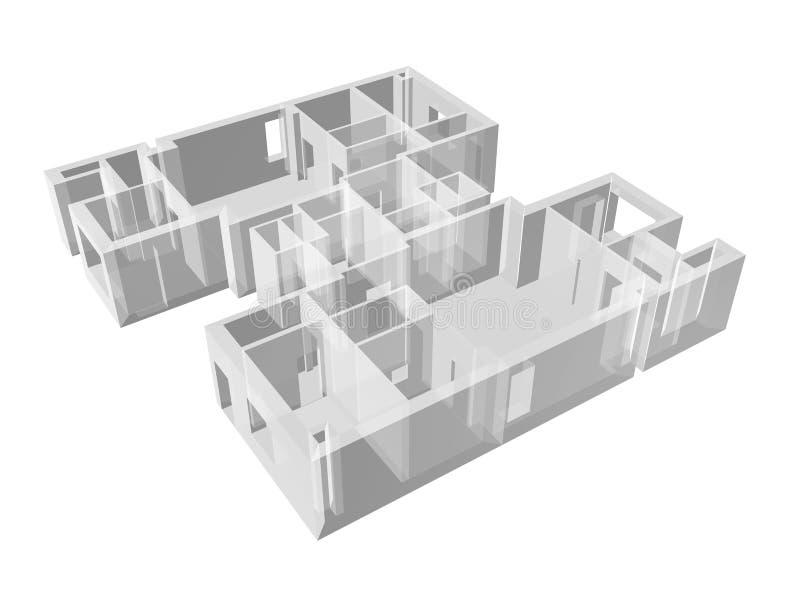 Download Planta Transparente Do Apartamento Ilustração Stock - Ilustração de projeto, engenharia: 16861056