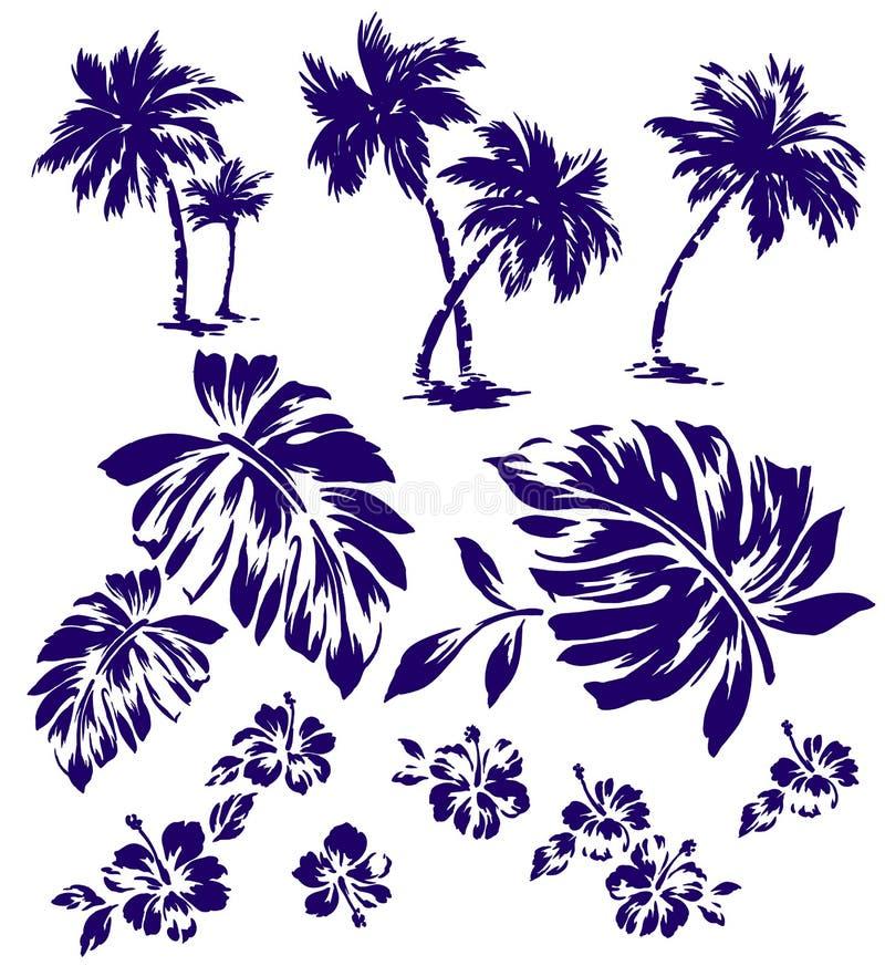 Planta tropical ilustração stock