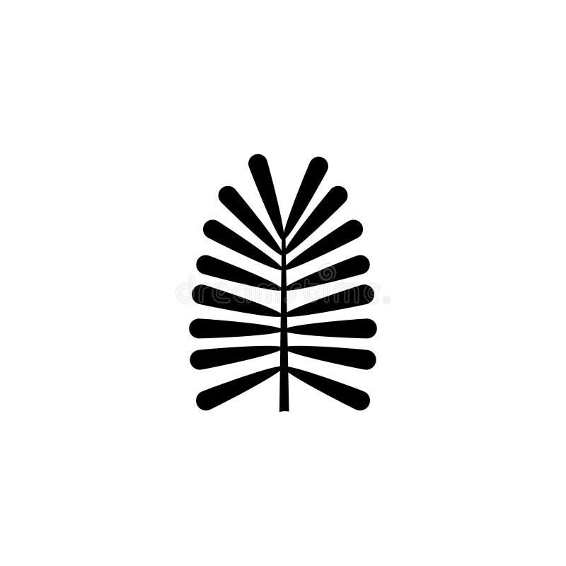 Planta tropical, Fern Leaf, icono plano del vector de la rama libre illustration