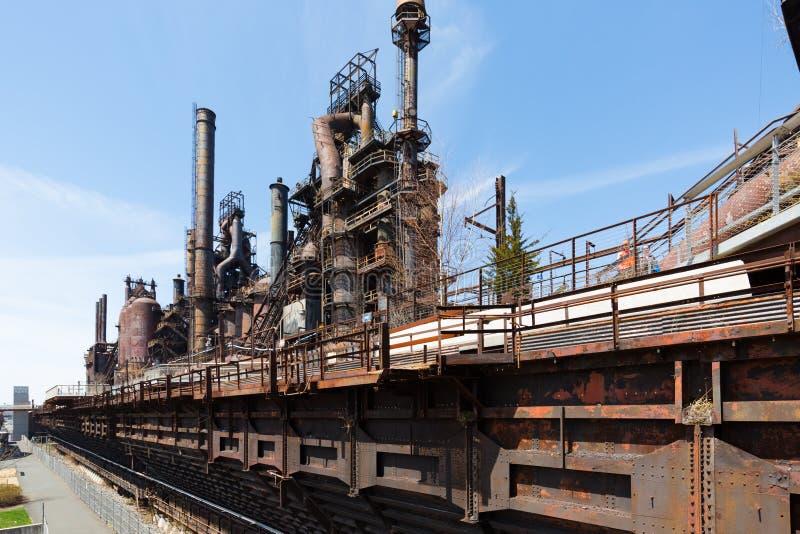 Planta velha abandonada de Bethlehem Steel da planta de aço em Bethlehem, Pensilvânia imagens de stock