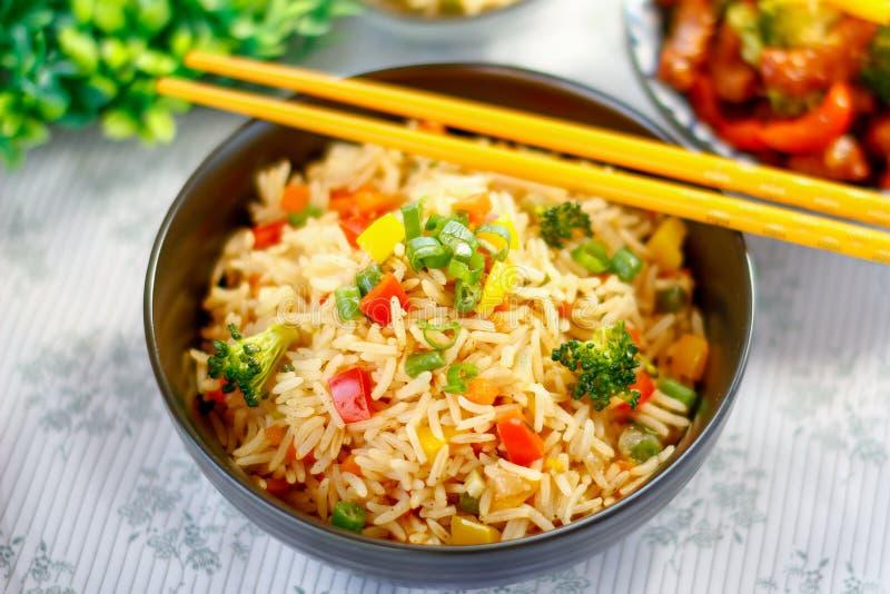 Plantaardig Fried Rice stock fotografie