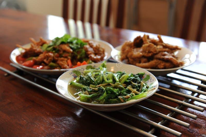 Plantaardig gekookt voedsel stock foto's