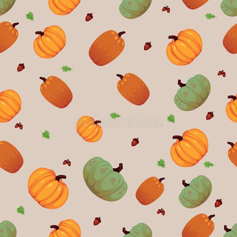 Plantaardig naadloos patroon Vegetarische reeks producten van de landbouwbedrijfmarkt royalty-vrije illustratie
