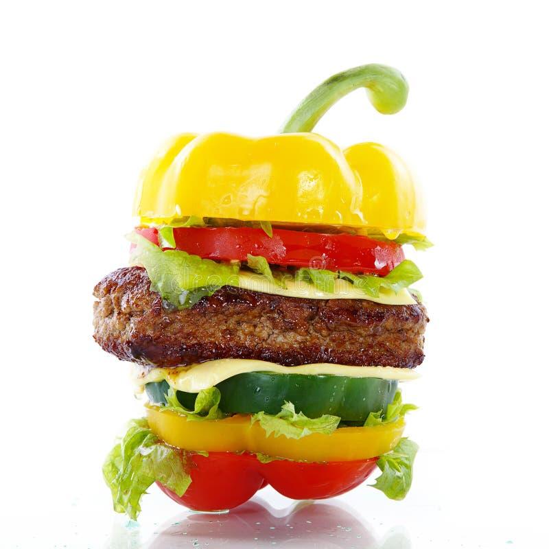 Plantaardige hamburger royalty-vrije stock afbeeldingen