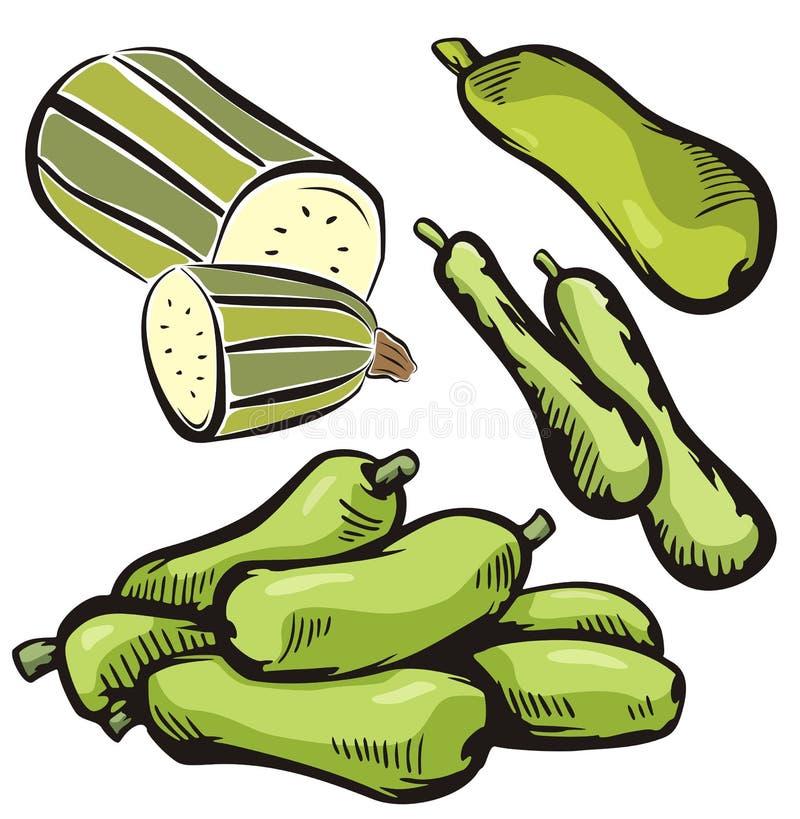 Plantaardige illustratiereeks vector illustratie