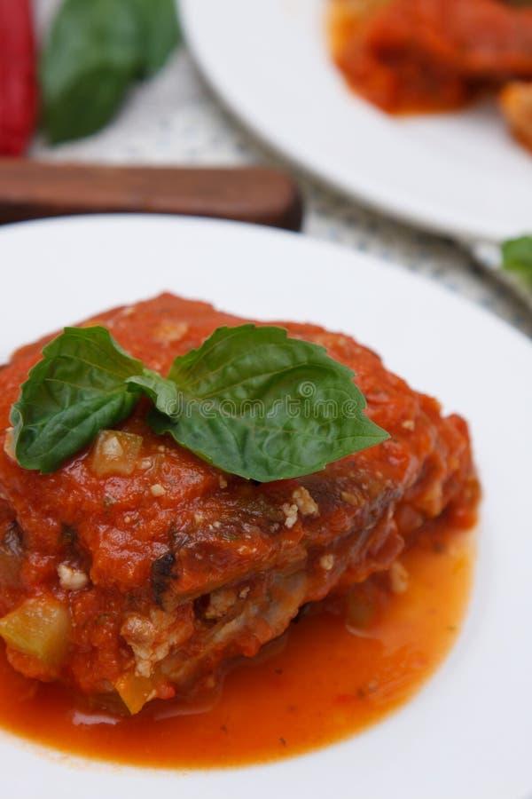 Plantaardige lasagna's royalty-vrije stock fotografie