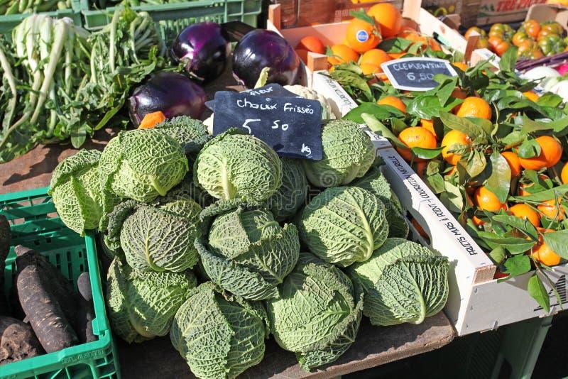 Plantaardige markt in Genève royalty-vrije stock foto