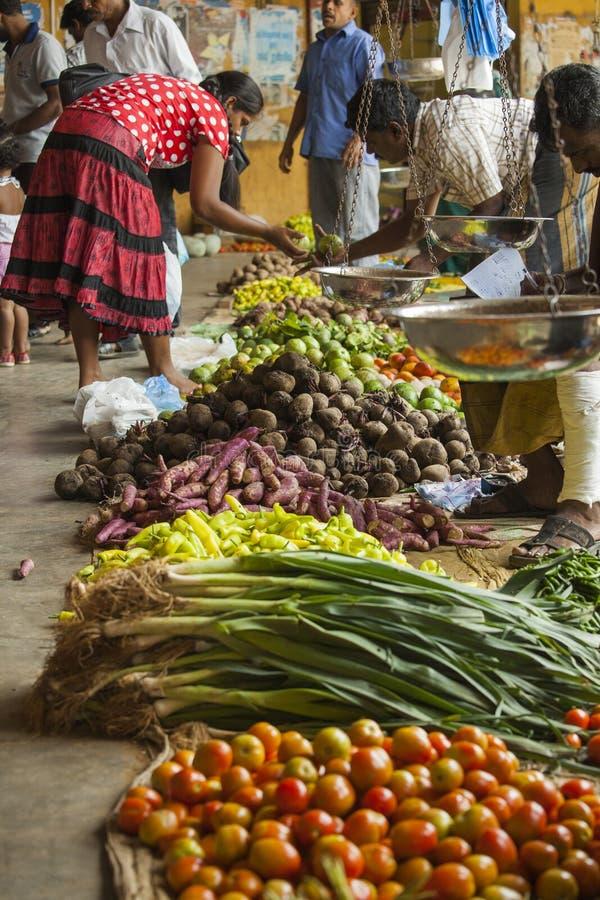 Plantaardige markt in Sri Lanka royalty-vrije stock foto