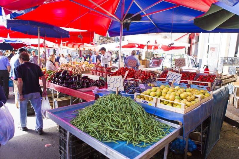 Plantaardige markt van de stad van Catanië royalty-vrije stock foto