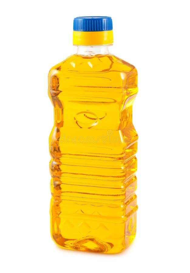 Plantaardige olie in plastic fles royalty-vrije stock afbeelding