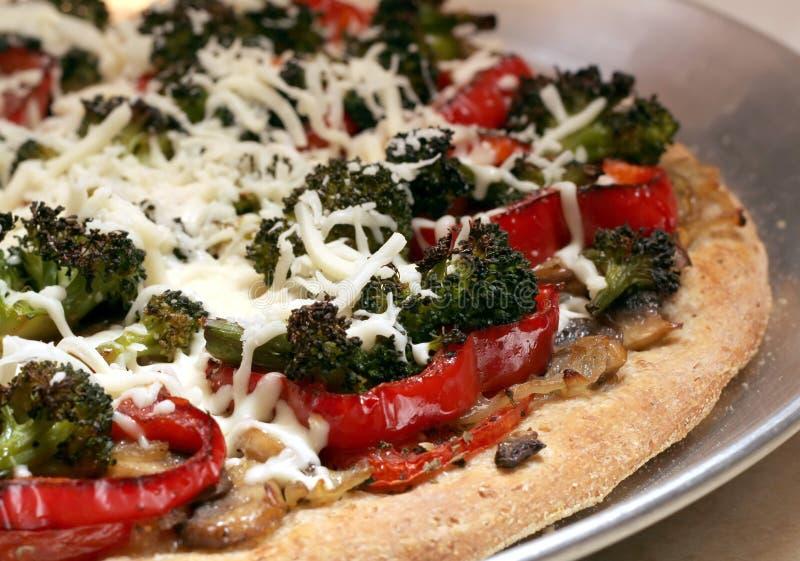 Plantaardige Pizza stock afbeelding