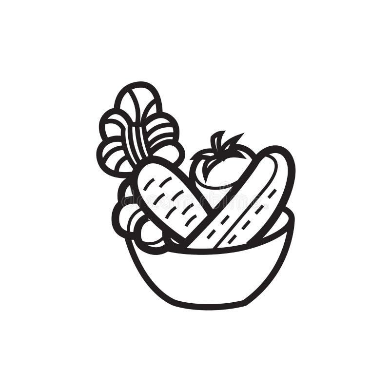 Plantaardige salade in een kom stock illustratie