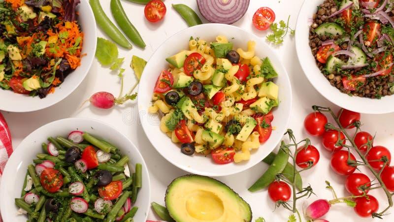 Plantaardige salade, hoogste mening stock afbeeldingen
