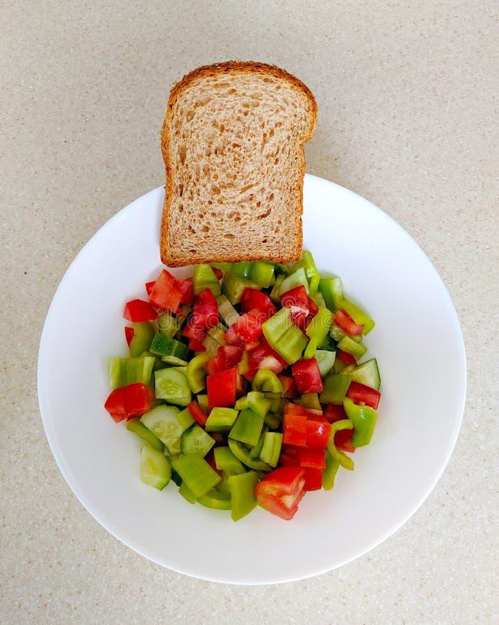 Plantaardige salade met peper royalty-vrije stock fotografie