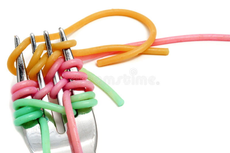 Plantaardige spaghetti royalty-vrije stock afbeeldingen