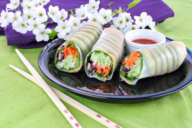 Plantaardige Sushi stock fotografie