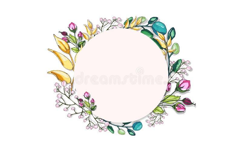 Plantaardige wereld Bloemen en takjes Fantastische motieven royalty-vrije illustratie