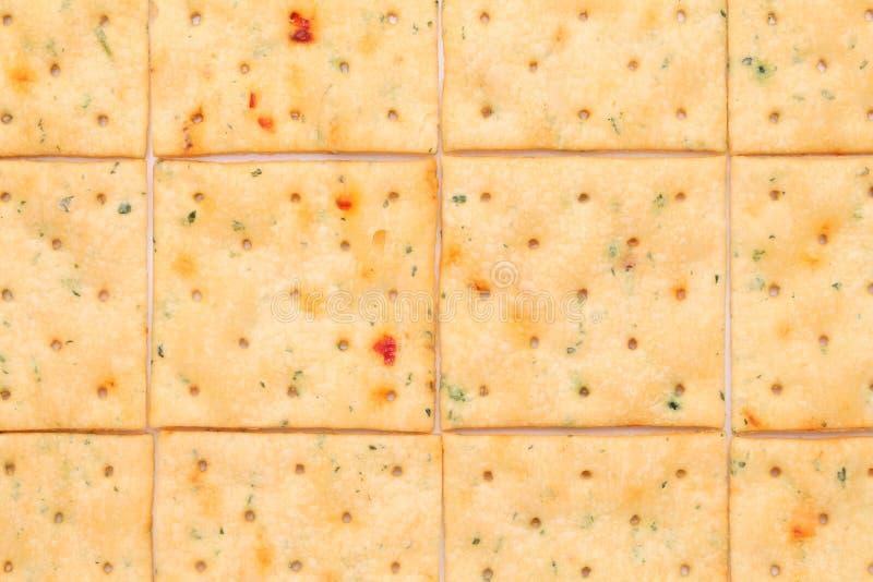 Plantaardige zoute crackers royalty-vrije stock foto