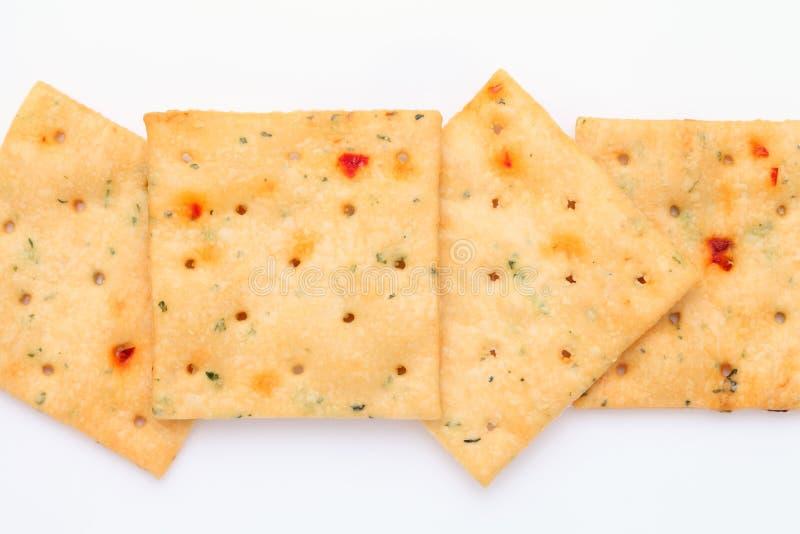 Plantaardige zoute crackers stock afbeeldingen