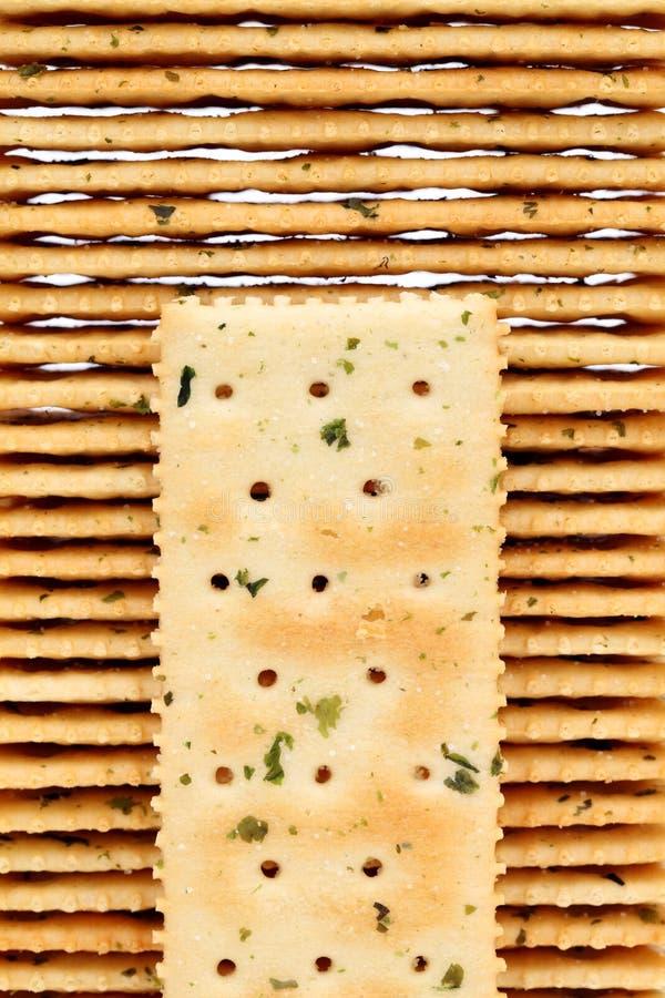 Plantaardige zoute crackers stock foto's