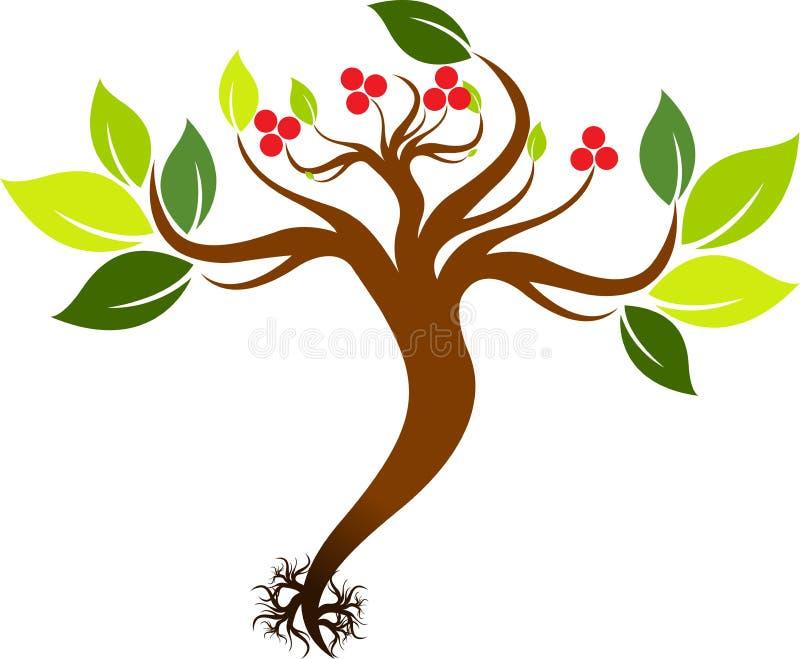 Plantan med rotar vektor illustrationer