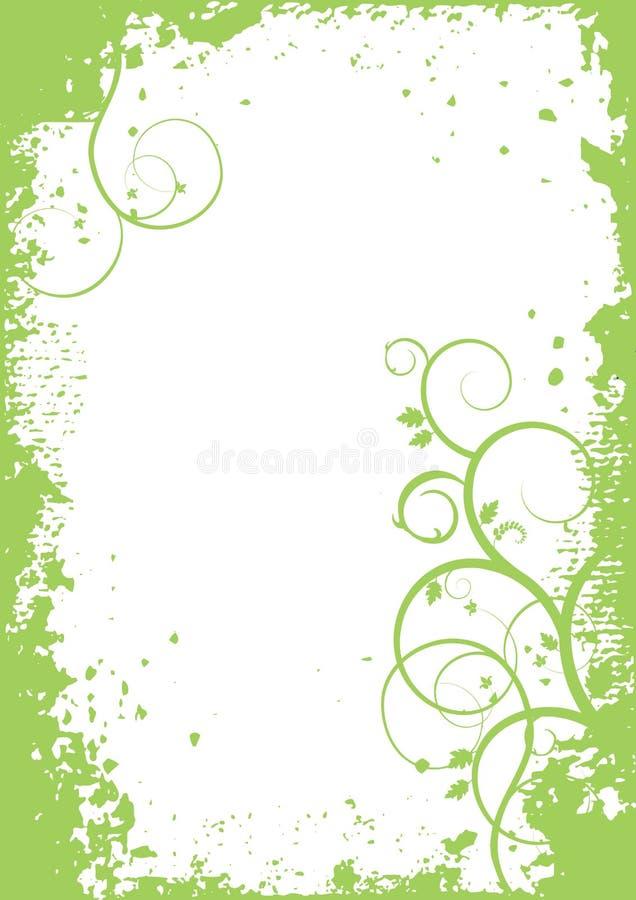 Plantas abstratas - fundo do vetor, bandeira ilustração stock