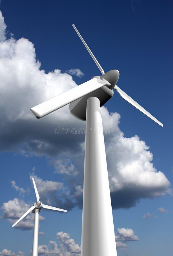 Plantas de la energía eólica imágenes de archivo libres de regalías