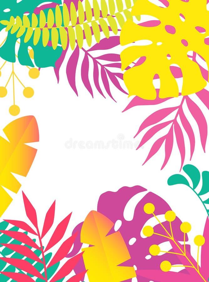 Plantas de neón stock de ilustración