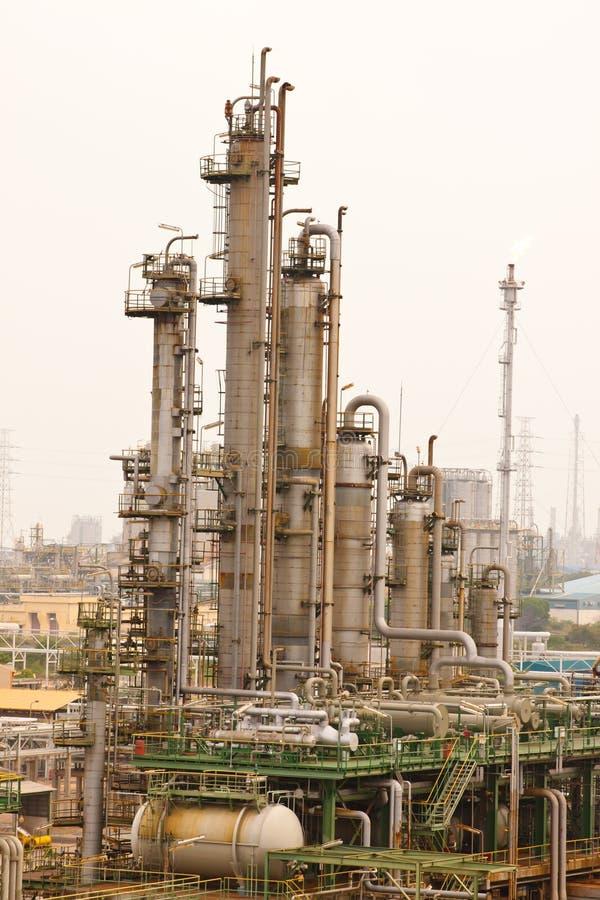 Plantas de refinerías del gas fotografía de archivo libre de regalías