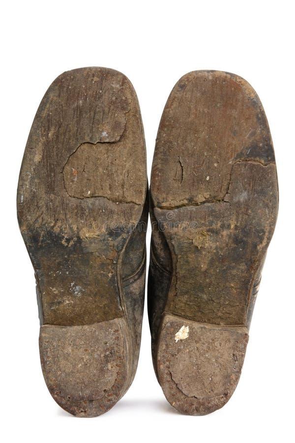 Plantas del pie viejas fotografía de archivo