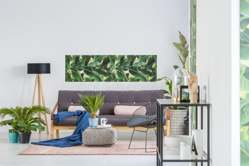 Plantas en sala de estar verde fotos de archivo libres de regalías