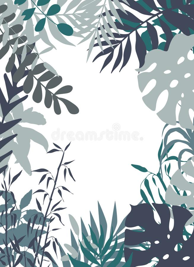 Plantas neutrales ilustración del vector