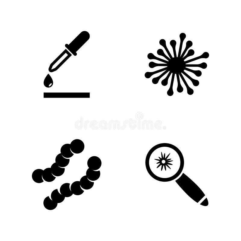 Plantas pequenas nas câmaras de ar de teste Ícones relacionados simples do vetor ilustração royalty free