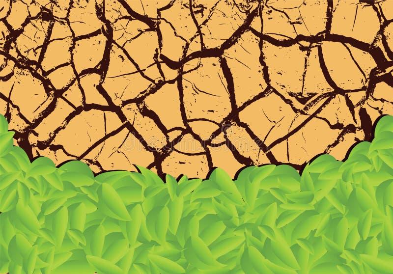 Plantas que brotan en el desierto stock de ilustración