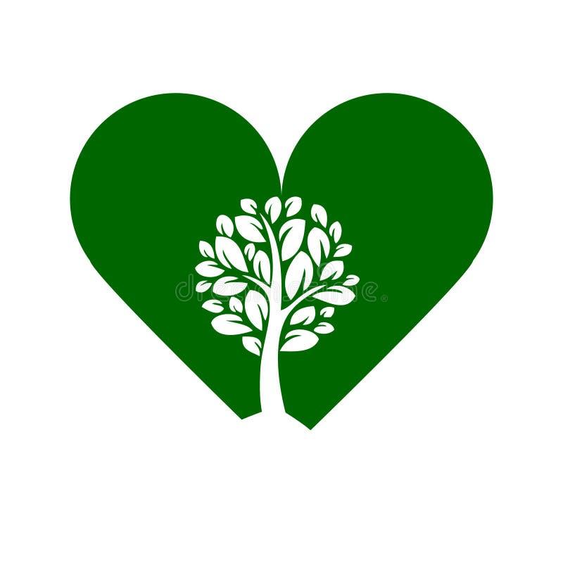 plantas que crescem cheias de amor e esperança ilustração stock