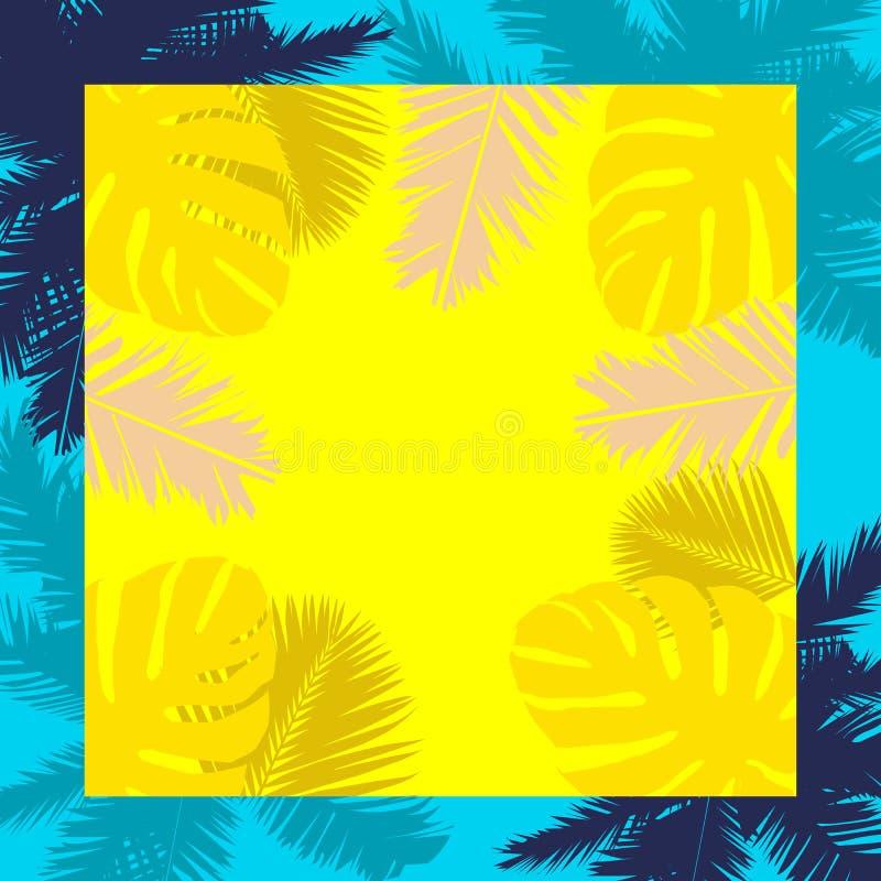 Plantas tropicais do verão ilustração royalty free