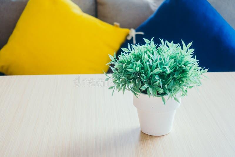 Plantas verdes del florero imagenes de archivo