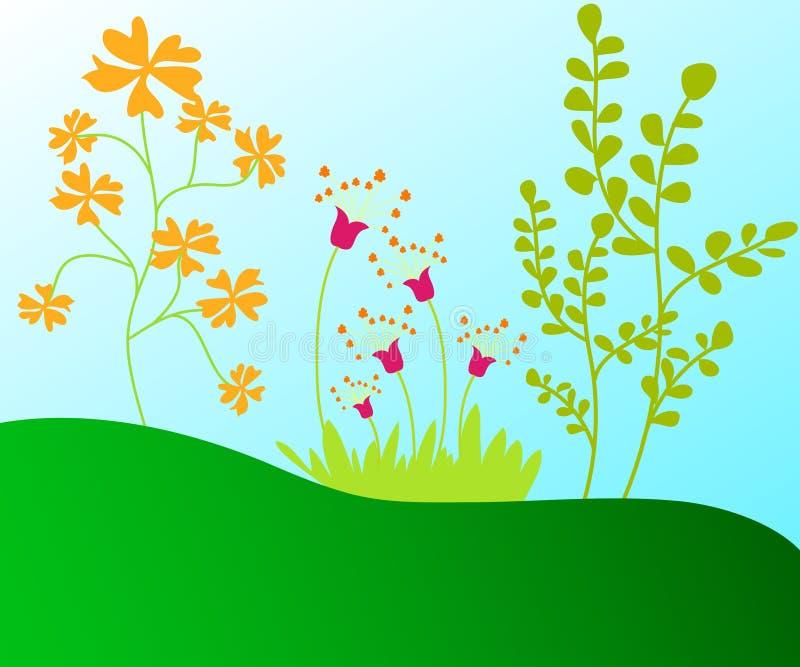 Plantas y árboles libre illustration