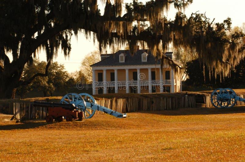 Plantation. Close to New Orleans Louisiana stock image