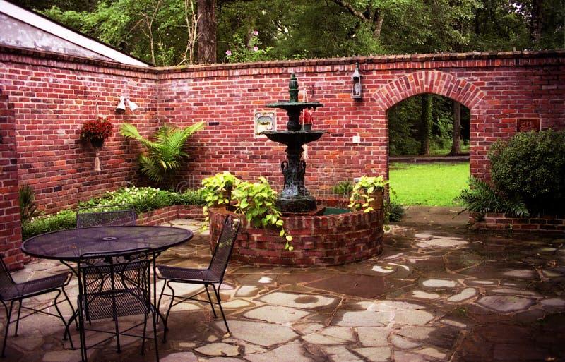 Plantation Courtyard royalty free stock photos