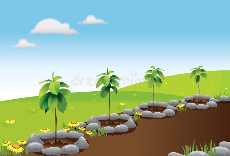 Plantation d'arbre illustration de vecteur