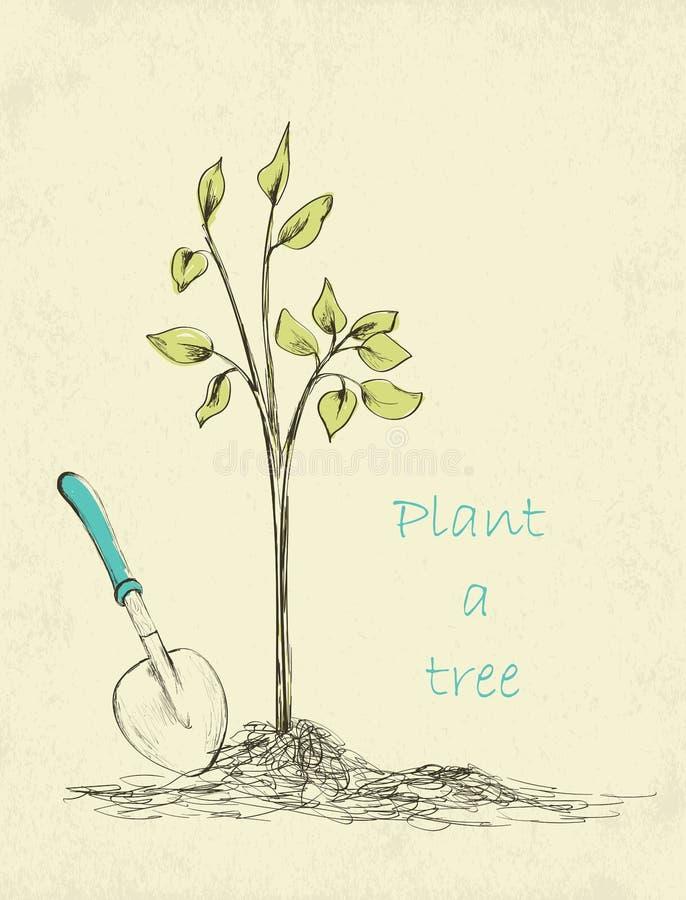 Plantation d'arbres illustration de vecteur