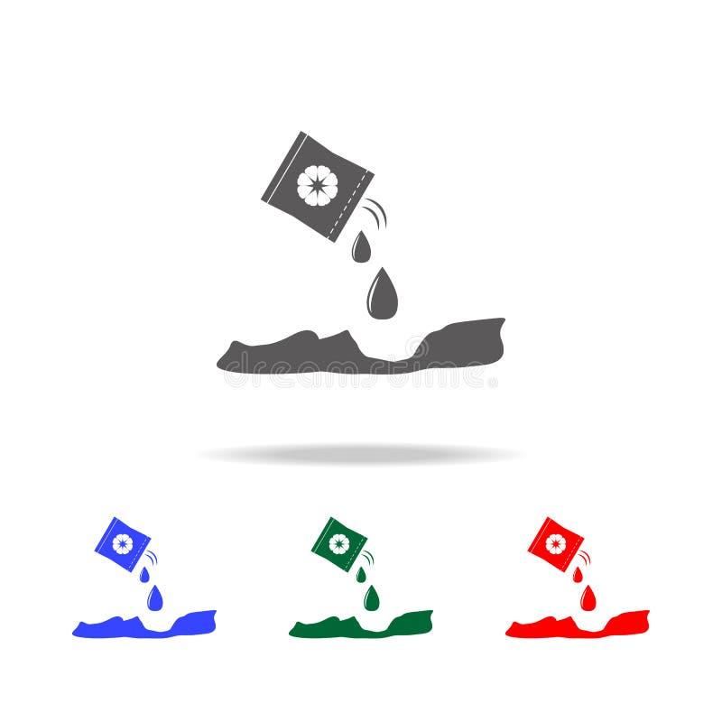 plantation de l'icône de graines Éléments de jardin dans les icônes colorées multi Icône de la meilleure qualité de conception gr illustration stock