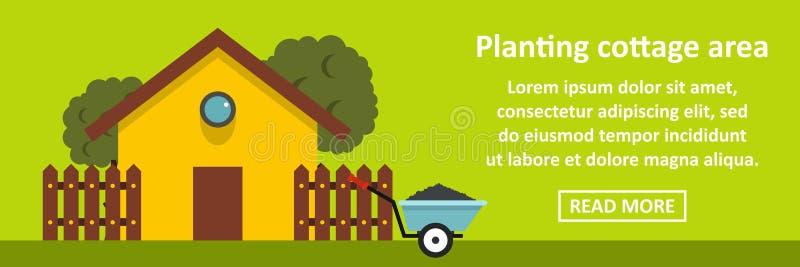 Plantation du concept horizontal de bannière de secteur de cottage illustration stock