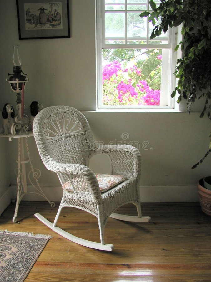Download Plantation white chair stock image. Image of window, barbados - 16323