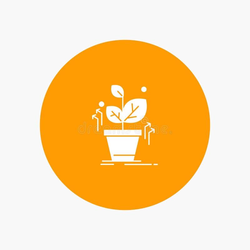 Plante, crezca, crecido, éxito ilustración del vector