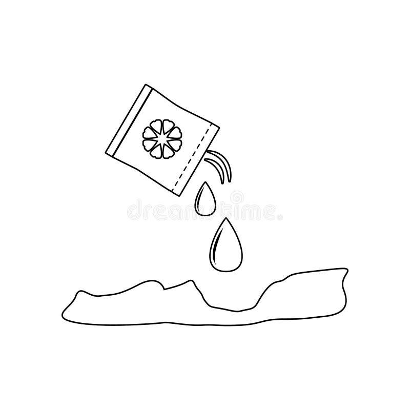 plante en icono de las manos Elemento del jard?n para el concepto y el icono m?viles de los apps de la web Esquema, l?nea fina ic stock de ilustración