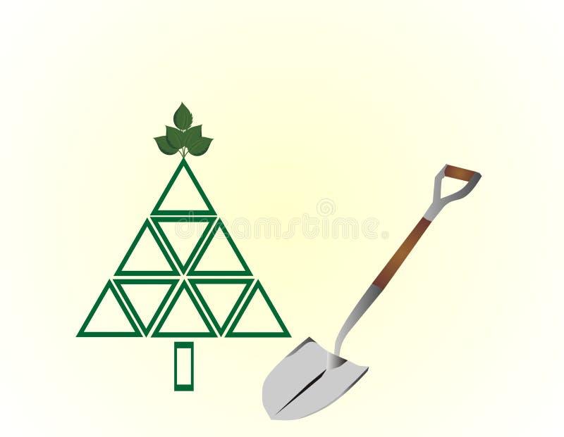 Plante uma árvore ilustração stock