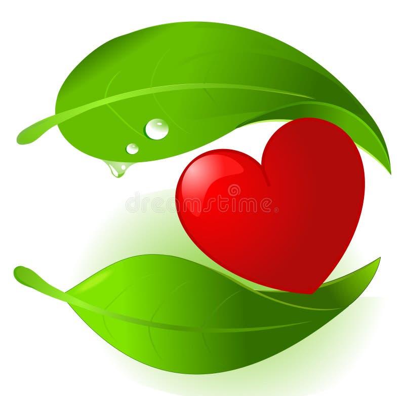 Planten- voedsel dat hart beschermt stock illustratie